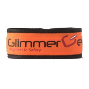 Glimmer Gear LED High Visibility Slap Band - Orange
